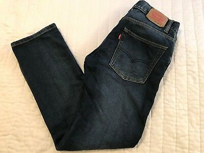 Levi's Red Tab 511 The KNIT SKINNY JEANS YOUTH SIZE 16 REG 28 X 28 Dark Wash
