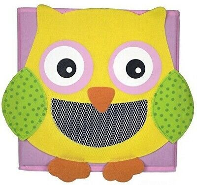Cute Collapsible Storage Bins w/ View Window- Foldable cubes - 11x11 in. (OWL)