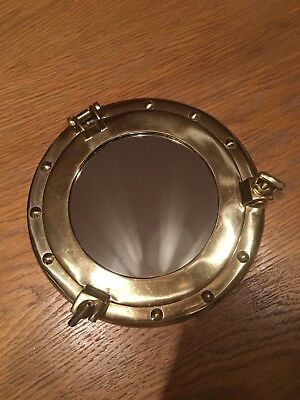 Brass Porthole Mirror 8inches