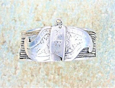 RARE ANTIQUE GREEK SARAKATSANI OTTOMAN ERA SILVER FILIGREE BRACELET 18th CENT #2