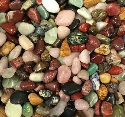 75 X African Tumble Stones / Crystals - Random Mix - Free Postage