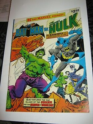 MARVEL SPECIAL TREASURY EDITION 1978 BRONZE Giant Size Batman Hulk Scarce Book