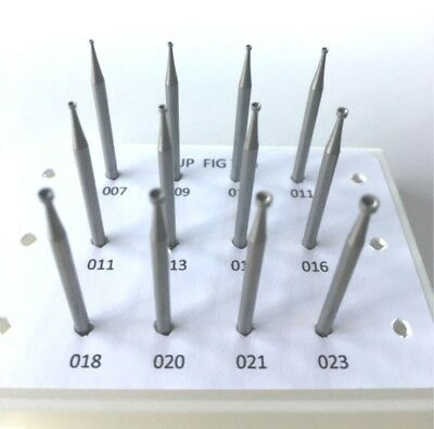 Jewelers Cup Bur Set, 12 Pcs 008 To 023,  Fig 77B, Made In Germany
