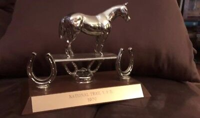 Vintage 1970 English Horse Show Trophy Nation Trail V.F.D. Gratiot Ohio