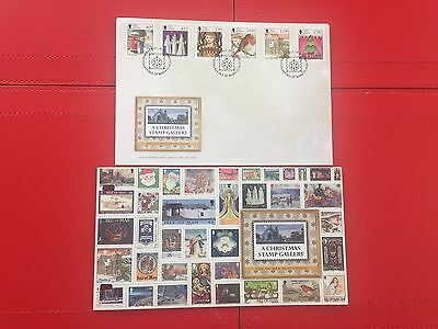 Isle of Man FDC 2013 First Day Cover A Christmas Stamp Gallery & P/Pack