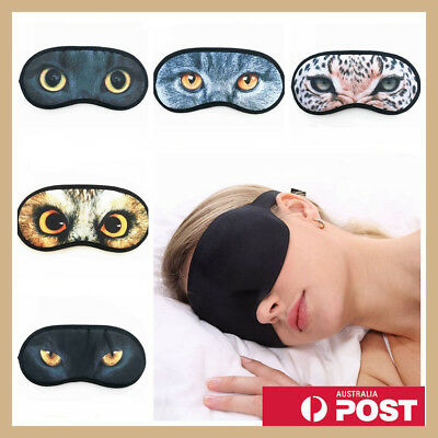 Cat Nap Travel Eye Mask Blindfold Sleeping Cover Shade Sleep Rest Owl Relax