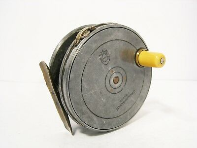 """Vintage Antique Farlow 3½"""" Contracted Trout Fly Fishing Reel - Perfect Pattern"""