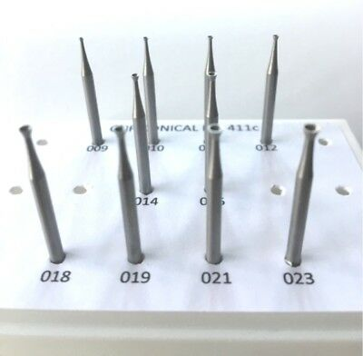 Jewelry Cup Conical Bur Set,10 Pcs 009 To 023, Quality Burs For Jewelers