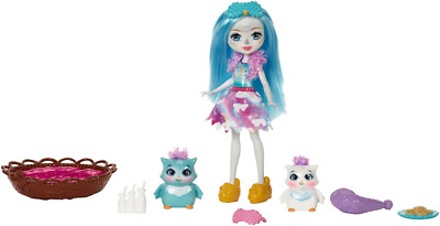 Enchantimals Sleepover Night Owl Toy Doll with Pet Animal Set