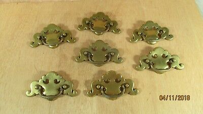 Lot 7 Ornate Vintage Brass Drawer Pulls Furniture Restoration CP 2346 Canada