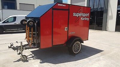 GOKART TRALIER , HOLDS 2 KARTS .  location gold coast . reduced for quick sale .