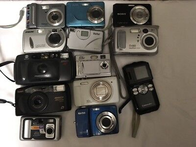 Random Lot of 13 Cameras Untested As Is