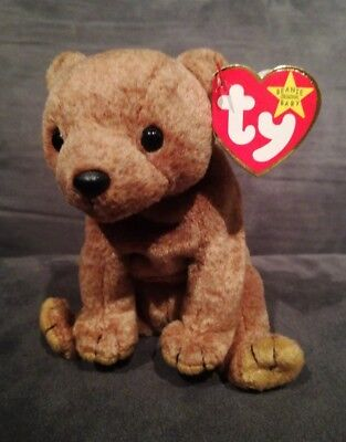 aac40d8ab04 Ty Original Beanie Baby 1999 PECAN the bear - MWMT - new condition