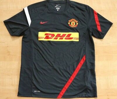 pretty nice 24644 7093b NIKE MANCHESTER UNITED Dhl Grey Training Soccer Men Jersey Size Large
