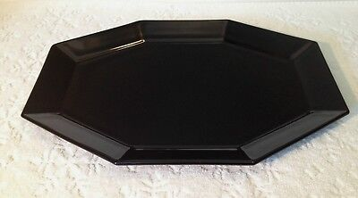 RETRO JG Durand ARC France; Octime-Black RARE LG Oval Serving-Platter 1970-80s