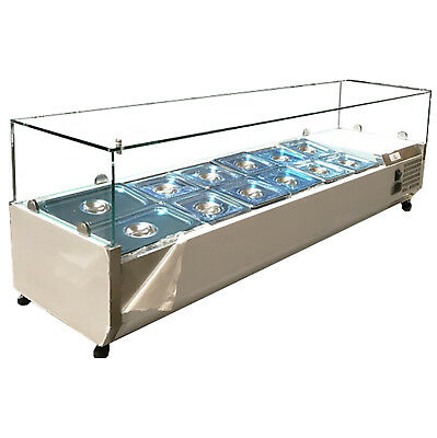 """NSF 60"""" Commercial Stainles Steel Salad Sandwich Prep Table Refrigerator 115v"""