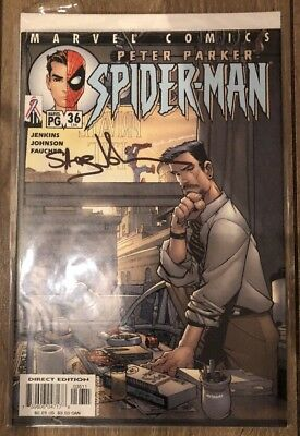 Peter Parker Spider-Man 36 Signed by Steward 'Staz' Johnson Marvel Comics