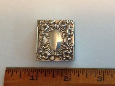 Antique Sterling Silver Double Stamp Case
