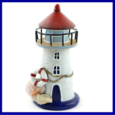 Fairy Garden Fun Lighthouse Shells Mermaid House Beach Ocean Miniature Dollhouse