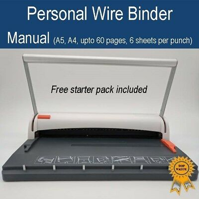 Peach Personal Wire Binder/Closer, Binding Machine (A5 A4, 3:1 wire, 60 sheets)