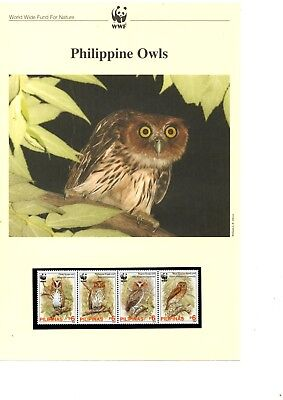 Philippines - 2004 WWF Philippine Owls MNH stamps and First Day Covers (W9)