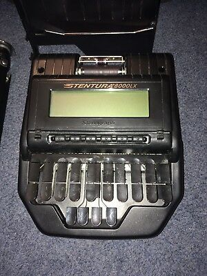 Stentura 8000LX Stenograph with Stand, Paper Feeder and Case