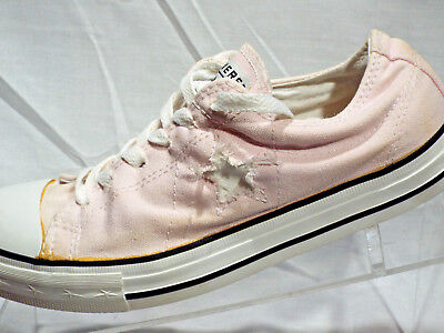 Converse One Star Pink Low Canvas Sneakers Shoes Womens Size 8.5