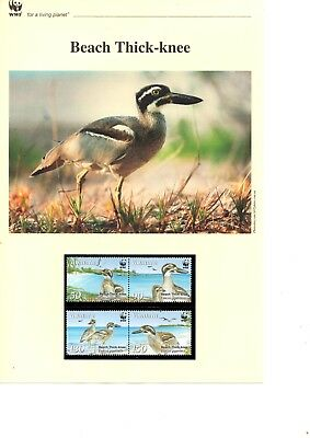 Vanuatu - 2009 WWF Beach Thick-knee MNH stamps and First Day Covers (W12)