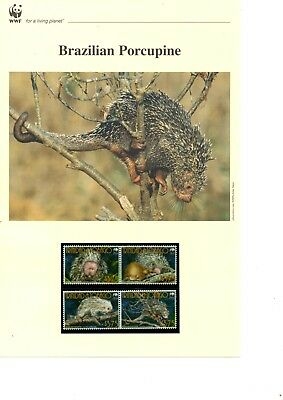 Trinidad & Tobago - 2008 WWF Porcupine MNH stamps and First Day Covers (W17)
