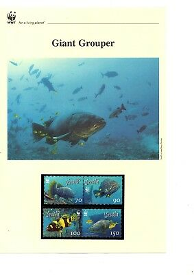 Vanuatu - 2006 WWF Giant Grouper MNH stamps and First Day Covers (W18)