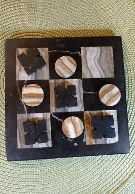 Marble Tic-Tac-Toe Set Hand Made In Mexico