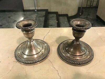 Antique Sterling Silver Candelsticks !!!!!