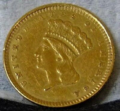 1861 $1.00 Gold Medallic Alignment Obverse and Reverse are 180 degrees Offset