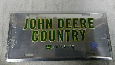 New John Deere Country Metal Front License Plate Officially Licensed Product