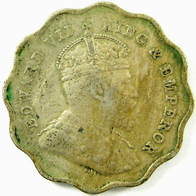 1907 India - British  Anna  (B on Crown)  Km# 504  A Very Nice Coin