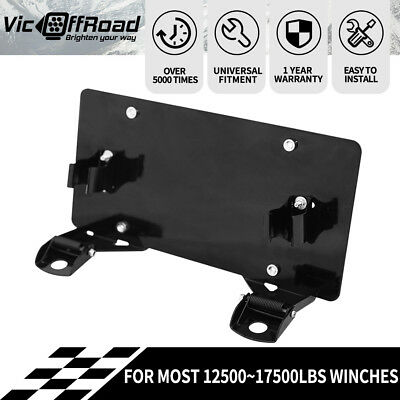 License Plate Frame Bracket Winch Roller Fairlead Heavy Duty
