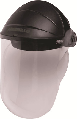Prosafe ARMADILLO COMPLETE FACESHIELD Moulded Visor, Clear Lens, Black Frame