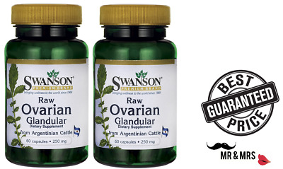 2x Swanson  Ovarian Glandular 250 mg x 60 Capsules ** BEST  PRICE **