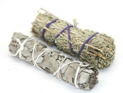"White Sage Californian Sage Smudge Stick 4"" Smudging Wicca Cleansing Healing"
