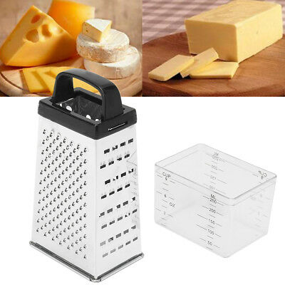 Stainless Steel 4 Sided Multi Funtion Cheese Vegetable Grater Box With Container