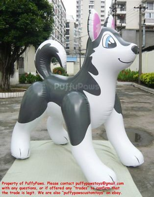 New in Plastic Puffypaws Inflatable Husky Never Inflated Perfect Puffy Paws