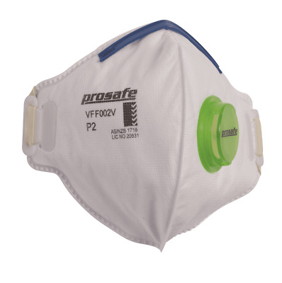 Prosafe DISPOSABLE VERTICAL RESPIRATOR Box Of 15Pieces P2, Exhalation Valve