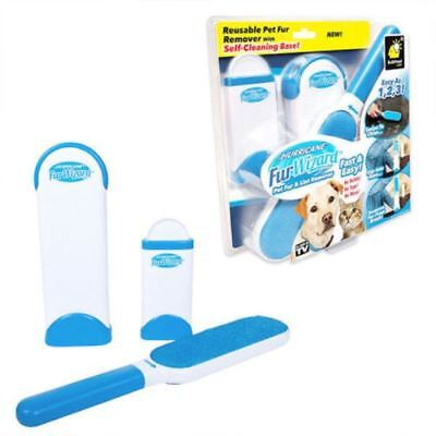 Fur Removing Kit with self-cleaning base, Double Size Hair Remover for Dog Cat