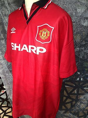Manchester United 1994 - 1996 Mens football jersey size XL Old Trafford design
