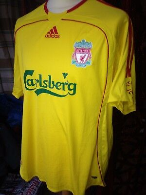 Liverpool football club jersey - yellow - Mens size large