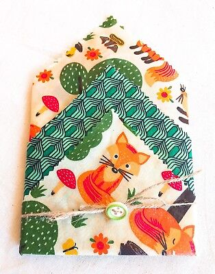 Beeswax Food Wraps Lunch Box Set Of 3, No Needles Packing, Handmade, Zero Waste