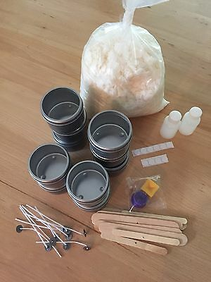 DIY Tin Soy Candle Making Kit - CHOOSE YOUR FRAGRANCES -Lovely Gift