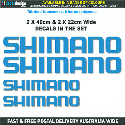 SHIMANO Decals 4 PACK stickers boat fishing tackle box fridge car bumper #S002