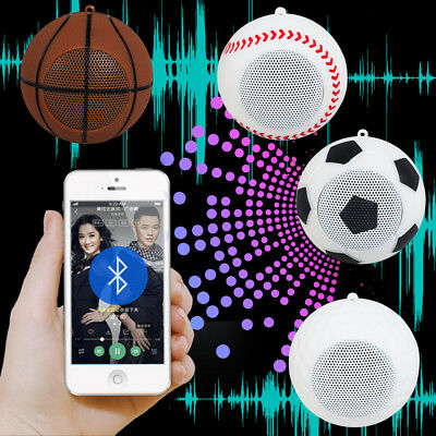 Mini Wireless Bluetooth TF Card Speaker Music Player For CellPhone Ball Game Fan