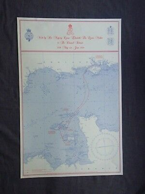 A ROYAL ROUTE CHART: VISIT By THE QUEEN MOTHER to THE CHANNEL ISLANDS. 1984
